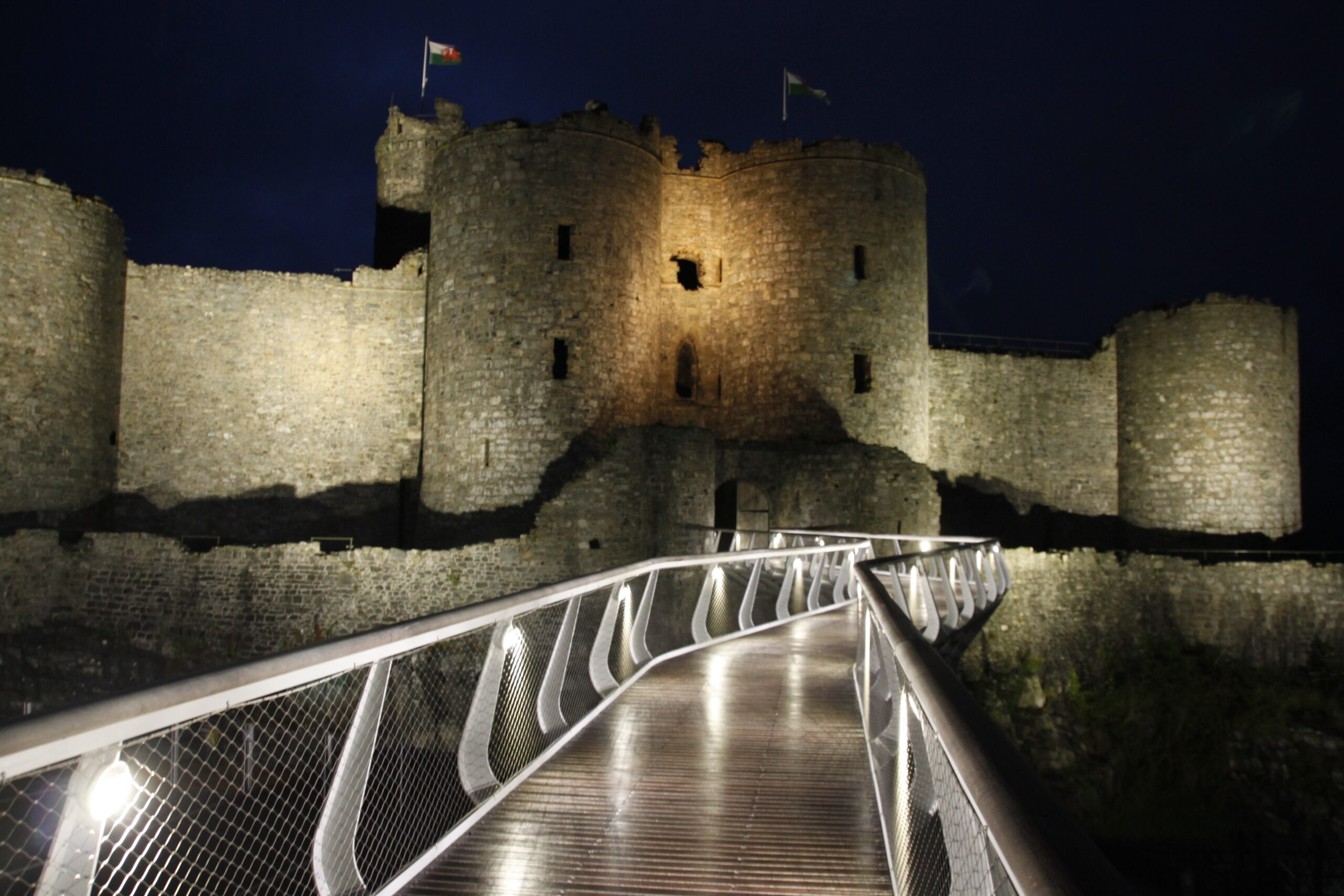 Harlech Castle - Architectural Lighting for Visitor Attractions - LTP Integration