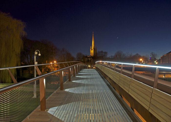 Jarrold Bridge Norwich - Architectural Lighting for Bridges & Walkways