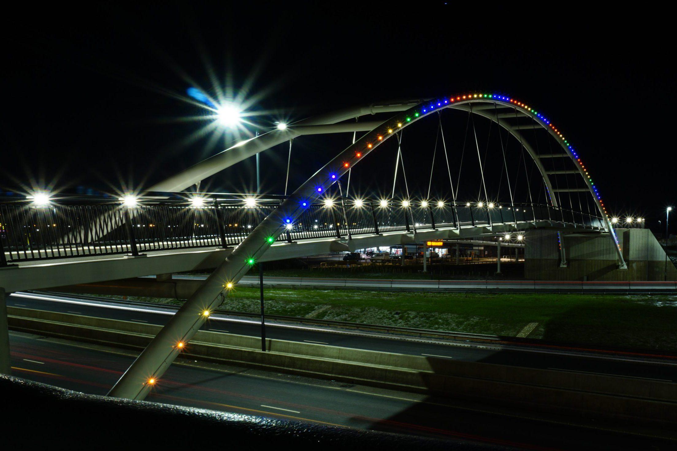 LTP Integration illuminates A52 Wyvern Footbridge, Derby