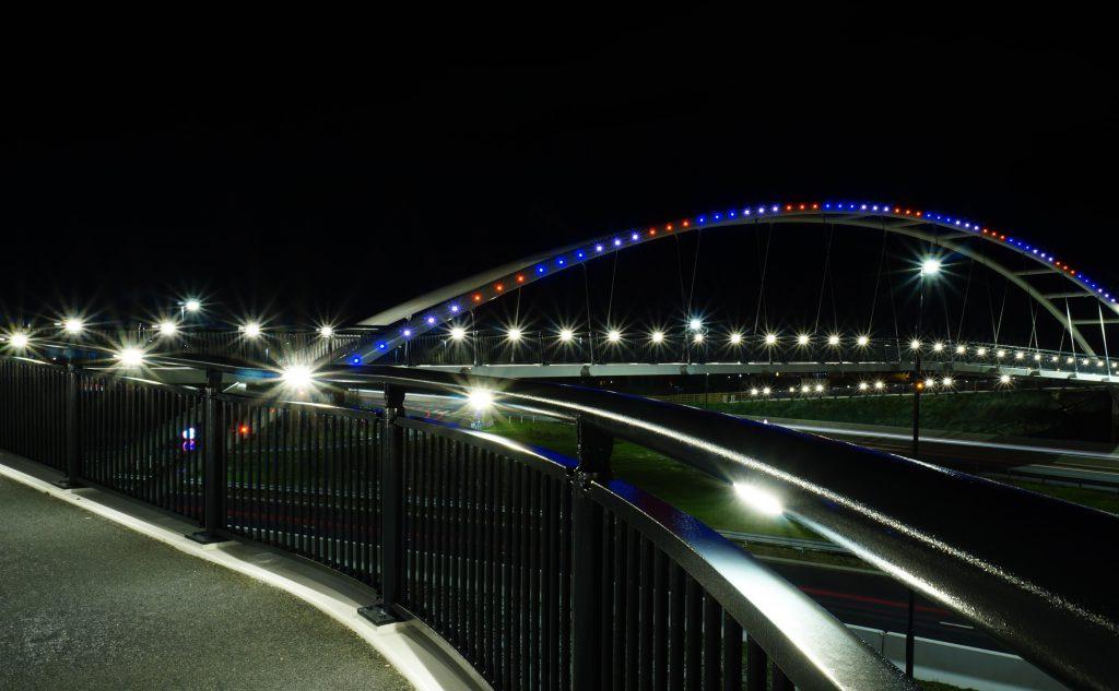 A52 Wyvern Footbridge - Handrail Lighting - LTP Integration