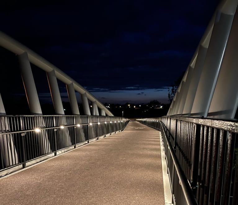 Broomhall Way Footbridge - Handrail Lighting - LTP Integration